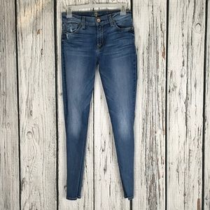 7 For All Mankind Ankle Skinny Denim Size 27